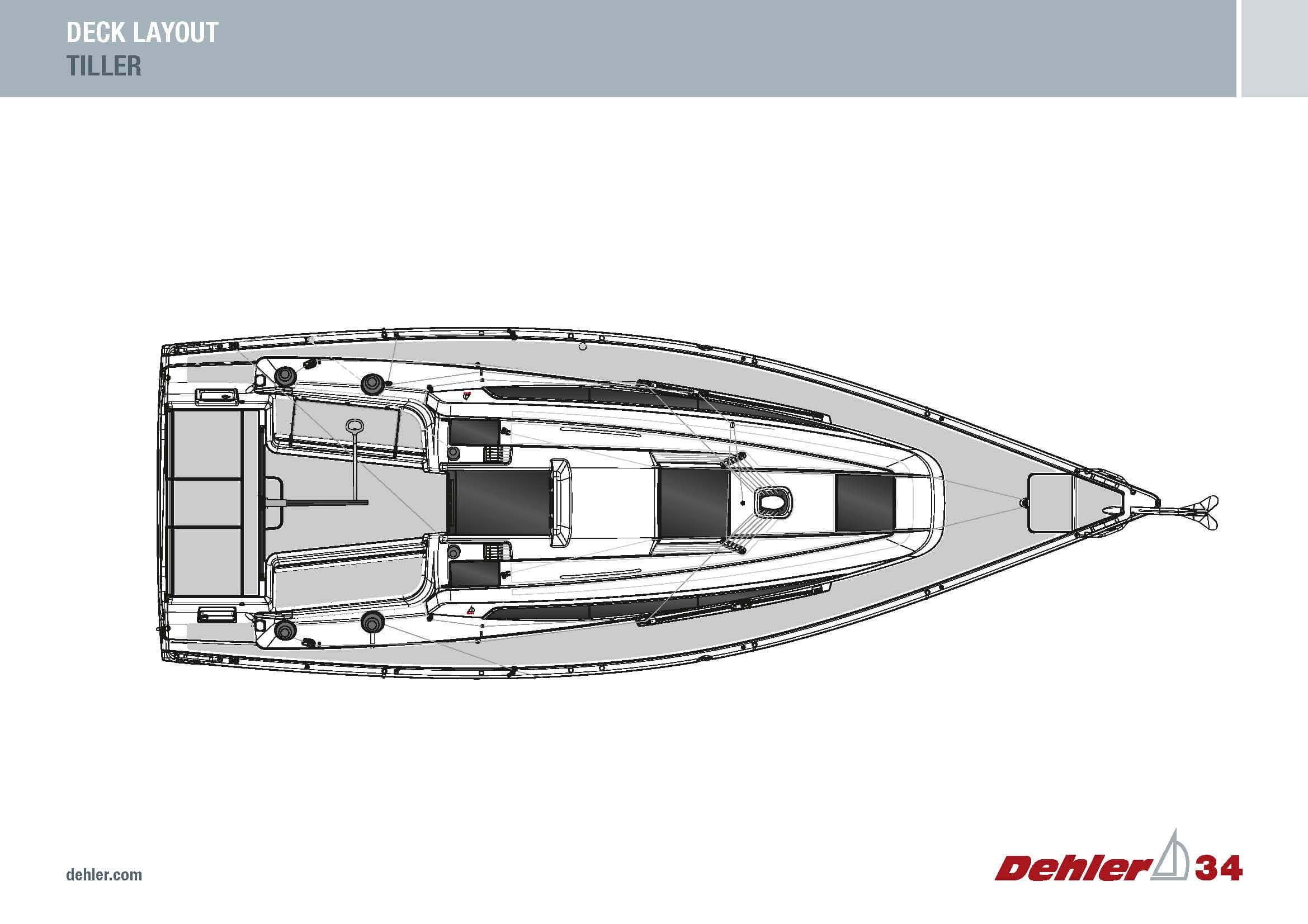 Dehler34_Deck_Layout_Tiller_Coloured